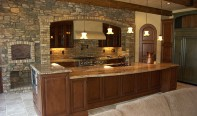 Rustic Alder with Appliance Panels