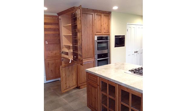 Raise Panel Rustic Alder Door
